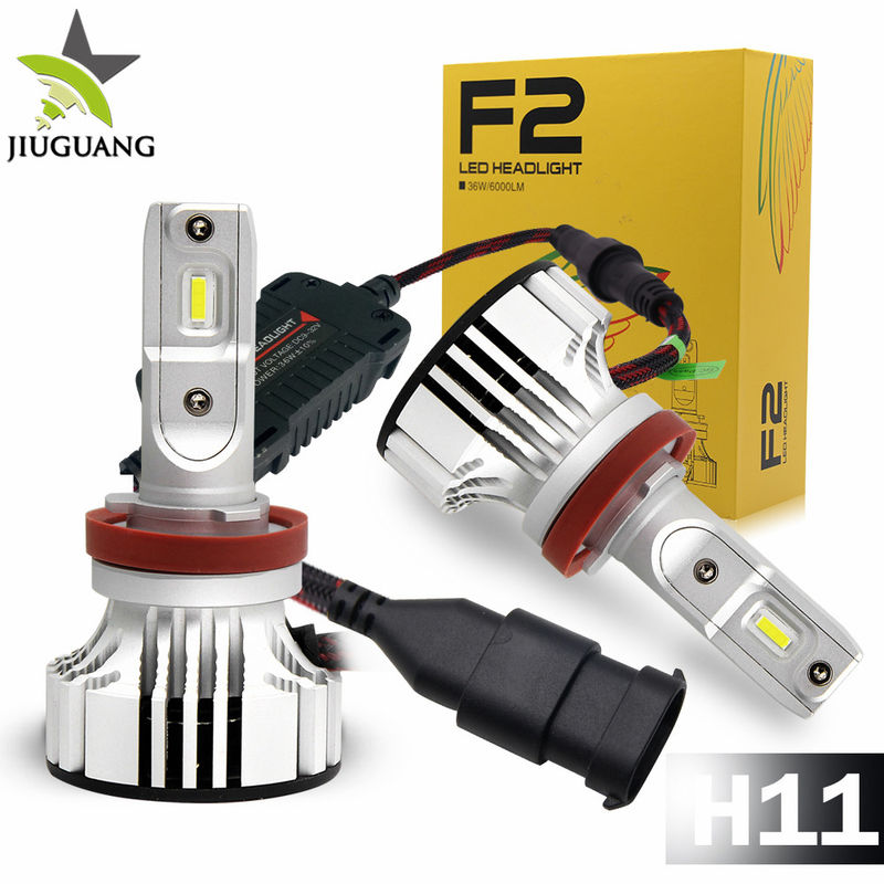 F2 Led Car Headlight Bulbs 6000 - 6500 K Color Temperature 24 Months Warranty
